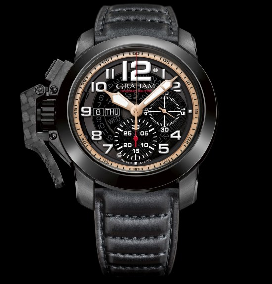 Graham Chronofighter Target watch with black pvd case