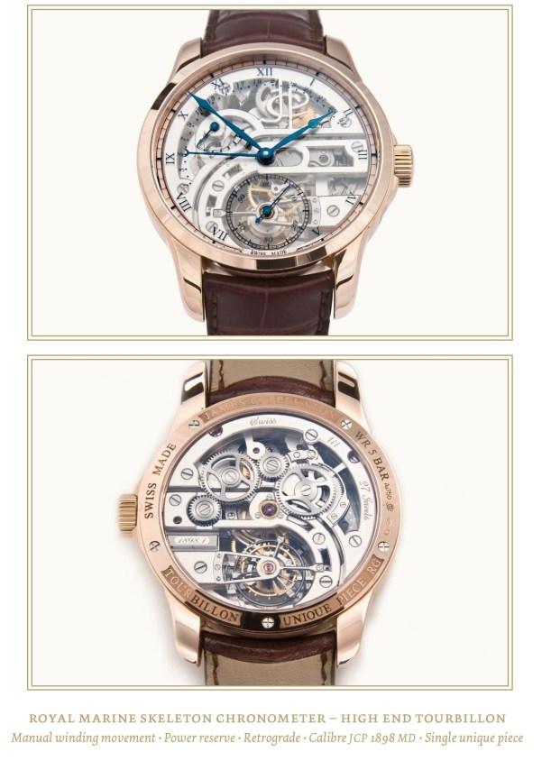 Jämes C. Pellaton Royal Marine Chronometer Skeleton