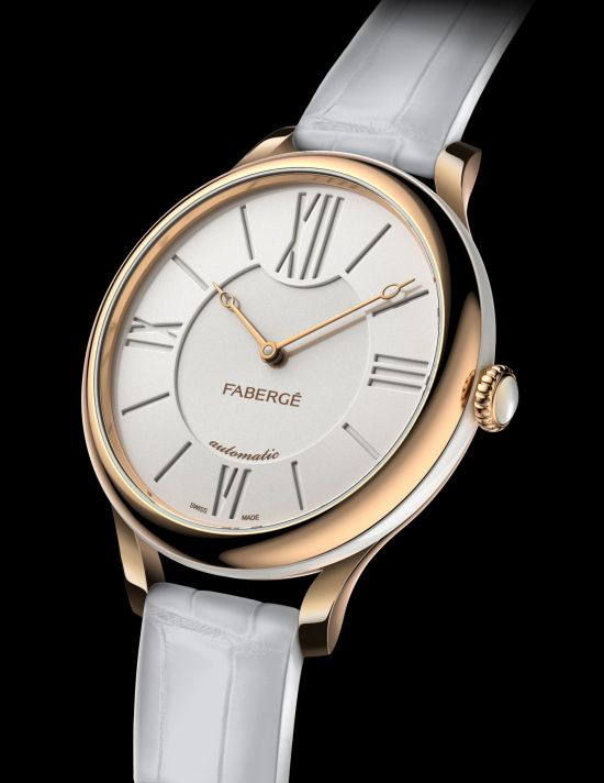Lady Fabergé 36 mm watch in rose gold