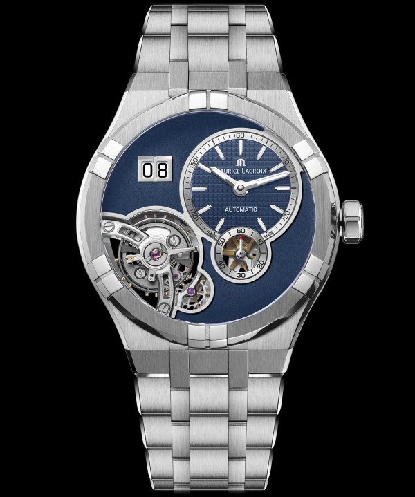 Maurice Lacroix Aikon Master Grand Date automatic watch blue dial steel case