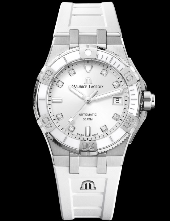 Maurice Lacroix Aikon Venturer 38mm (with white dial) diving watch for women