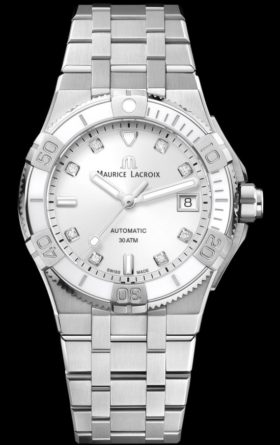 Maurice Lacroix Aikon Venturer 38mm (with white dial) automatic ladies diving watch