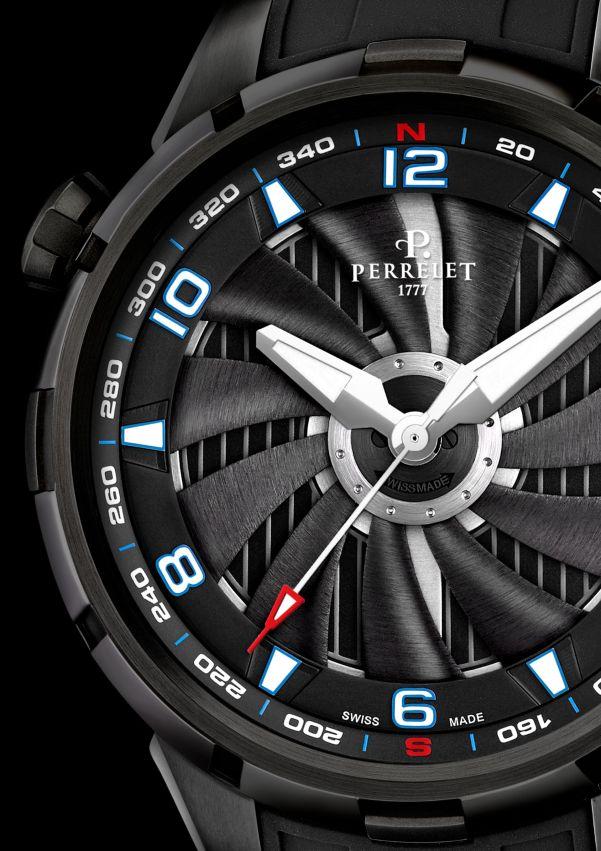 Perrelet Turbine Yacht, New Model 2021 black pvd case