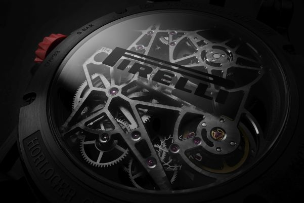 Roger Dubuis New Excalibur Spider Pirelli watch case back view