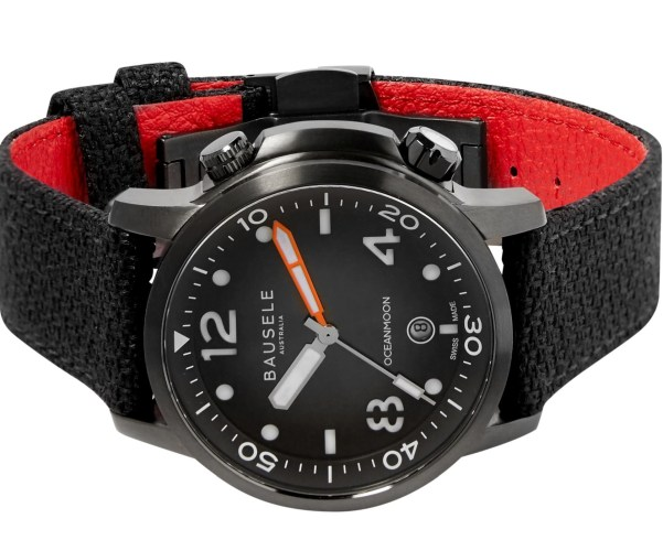 Bausele Ocean Moon IV automatic dive watch with black dial
