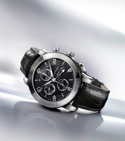 Century Elegance Chronograph GMT stainless steel watch