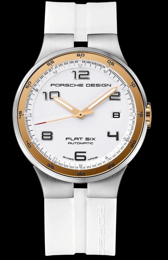 Porsche Design New P'6300 Flat Six Watch Models 2012 white dial