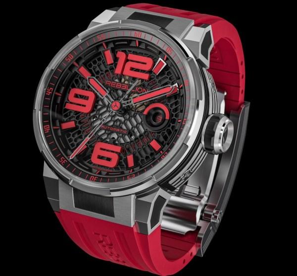 REBELLION PREDATOR 2.0 3 HANDS red watch