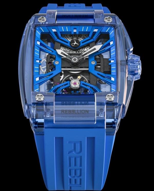 Rebellion RE-Volt Sapphire watch with blue case