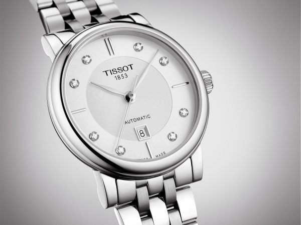 Tissot Carson Automatic Ladies watch with diamond hour markers