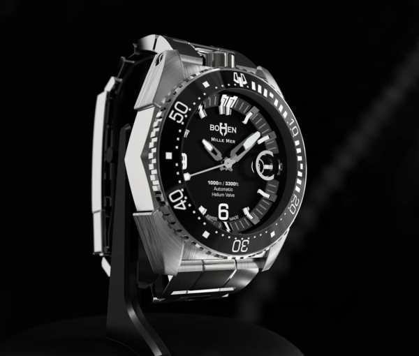 BOHEN MILLE-MER swiss made dive watch 1000 meters
