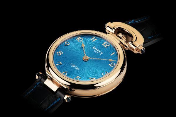 BOVET 1822 Monsieur Bovet New Models with Turquoise Guilloche Lotus Flower Motif Dial