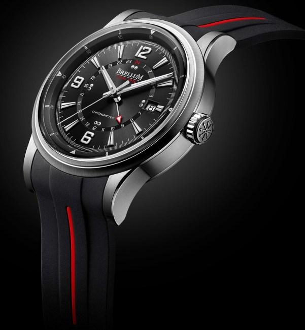 Brellum Wyvern GMT Chronometer watch with black dial