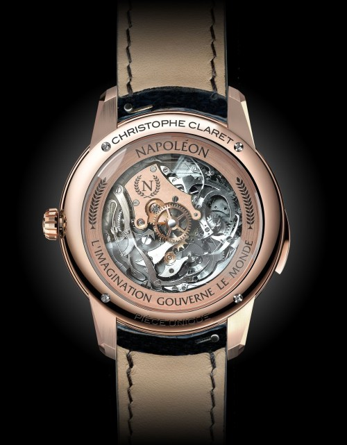 Christophe Claret Napoleon red gold watch case back