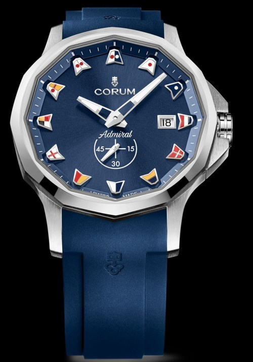 Corum Admiral 42 Automatic New Model with stainless steel case and ocean blue dial