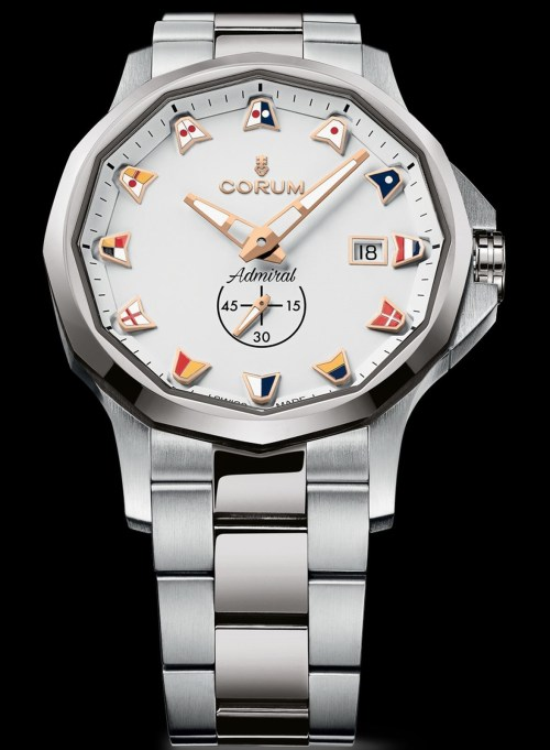 Corum Admiral 42 Automatic New Model with stainless steel case and white dial