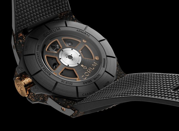 Corum Admiral 45 Automatic Openworked Flying Tourbillon Carbon & Gold Limited Edition