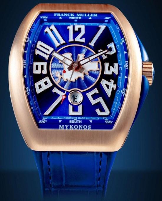 Franck Muller Mykonos Limited Edition watch rose gold