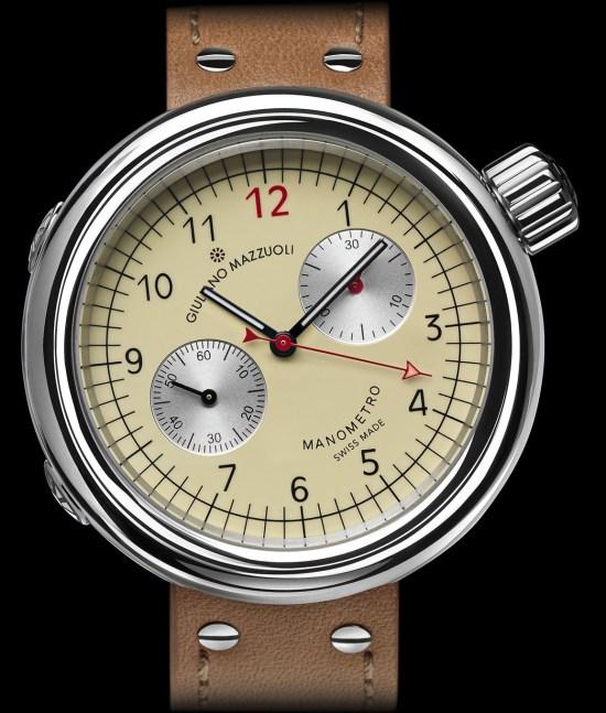 Giuliano Mazzuoli Manometro chronograph with ivory dial