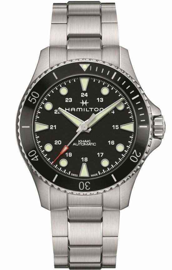 Hamilton Khaki Navy Scuba Automatic 43mm Reference H82515130: Stainless steel case, black dial, black bezel-insert and stainless steel bracelet