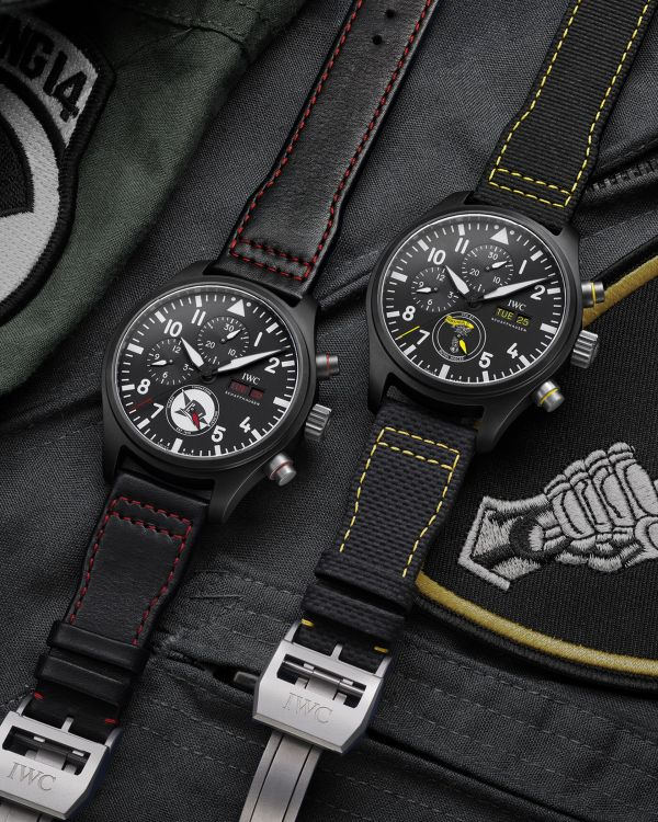"""IWC Schaffhausen Pilot's Watch Chronograph Editions """"Royal Maces"""" Ref. IW389107 and """"Tophatters"""" Ref. IW389108"""