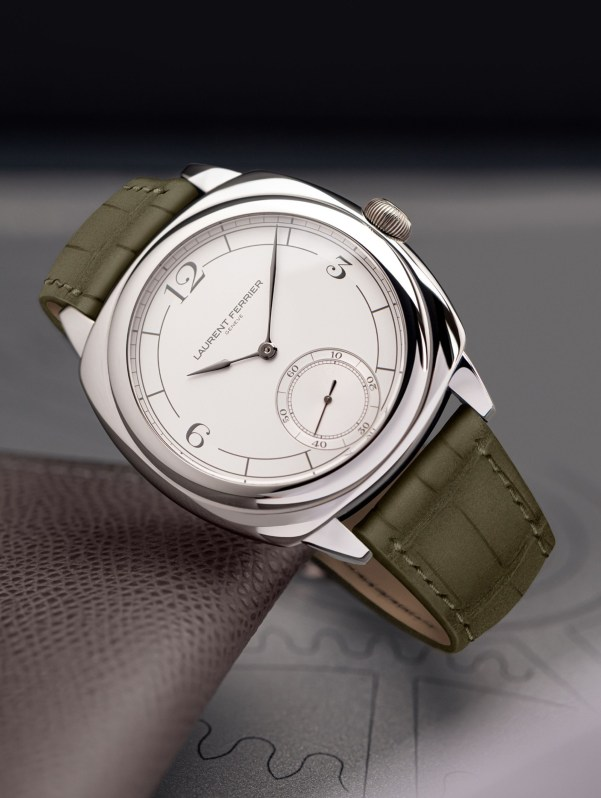 LAURENT FERRIER Square Micro-Rotor Retro stainless steel watch