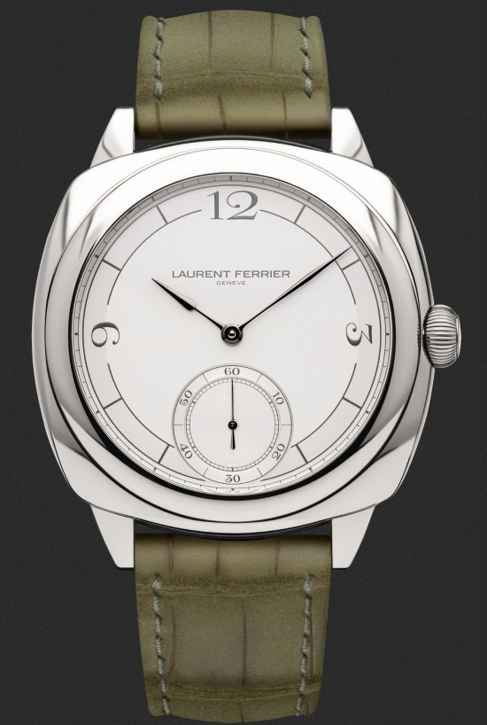 LAURENT FERRIER Square Micro-Rotor Retro stainless steel version