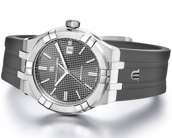 Maurice Lacroix Aikon Automatic New Version with grey dial and fkm rubber strap