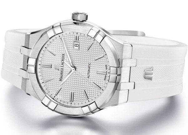 Maurice Lacroix Aikon Automatic New Version with white dial and fkm rubber strap