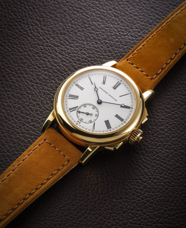 Philippe Dufour Grande & Petite Sonnerie Wristwatch Number 1 in Yellow Gold