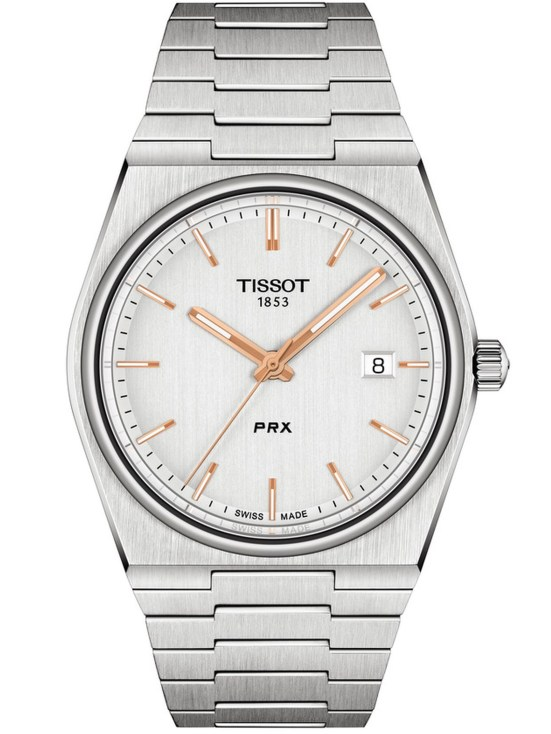 Tissot PRX Quartz watch with blue dial