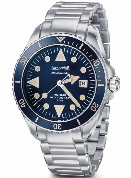 Eberhard & Co. Scafograf 300 MCMLIX Edition with Matt Blue Dial