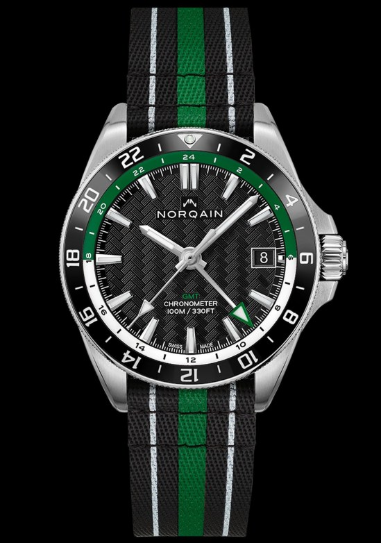 NORQAIN ADVENTURE NEVEREST GMT with green details and nato strap