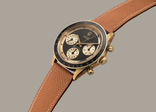 """Rolex Daytona reference 6241 yellow gold chronograph wristwatch with """"Paul Newman John Player Special"""" dial"""