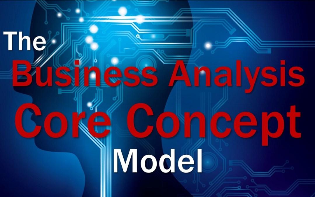 MBA083: The BA Core Concept Model