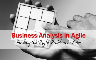 MBA185: Business Analysis in Agile