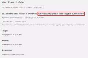 website security - wordpress is up to date