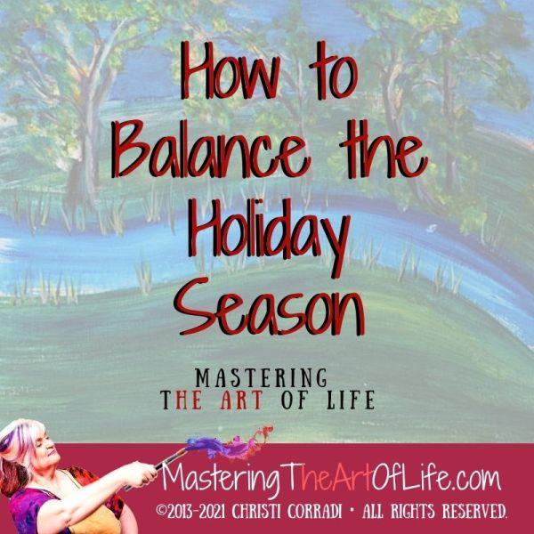 Balance Your Holidays cover art