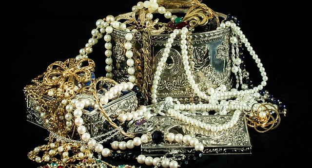 Jewels in box