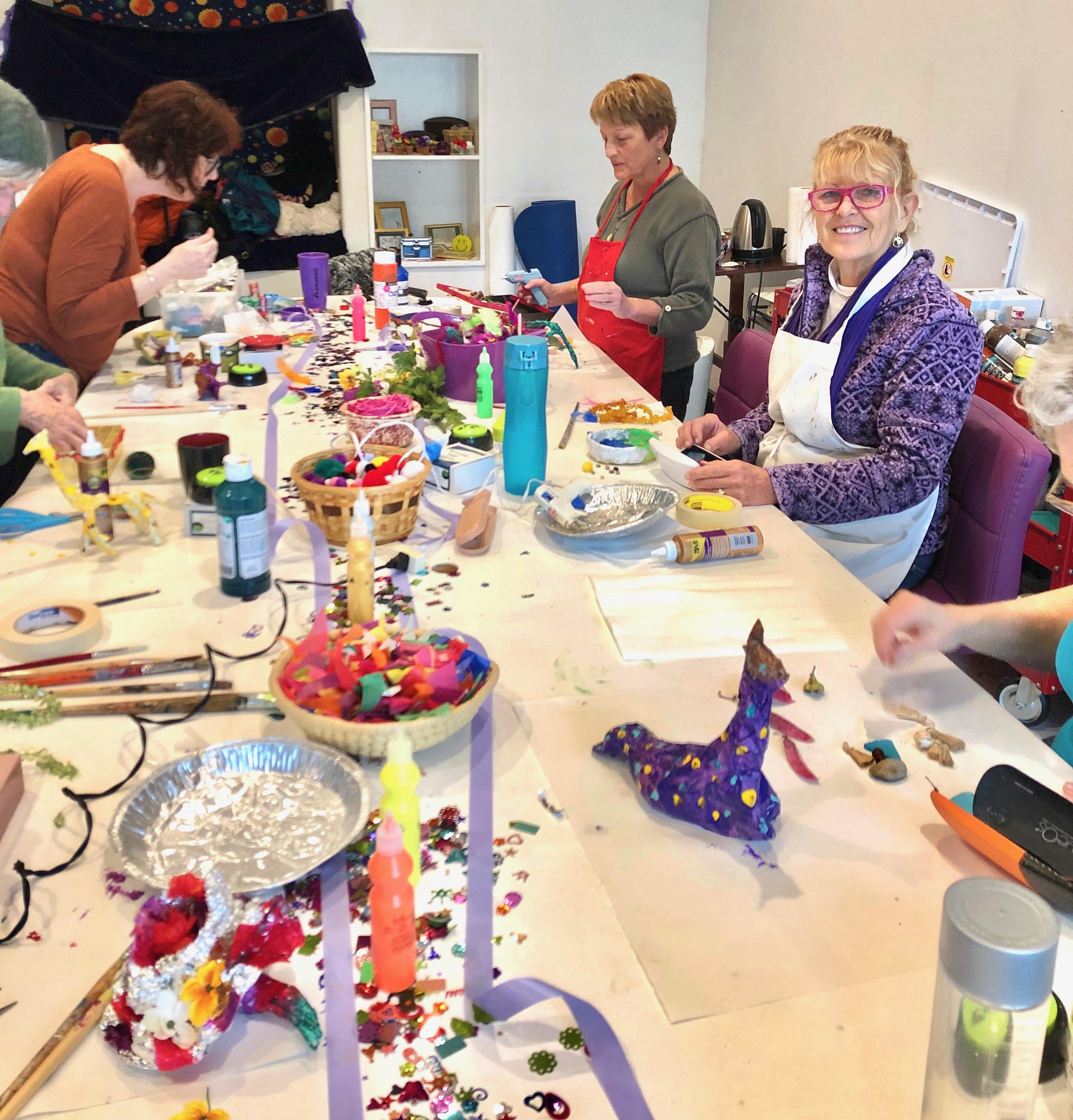 Mixed Media participants at play
