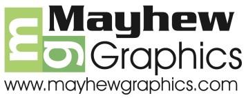 mayhew graphics logo for white