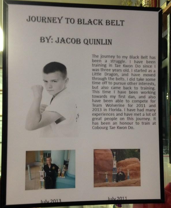 jacob black belt poster cobouurg tae kwon do