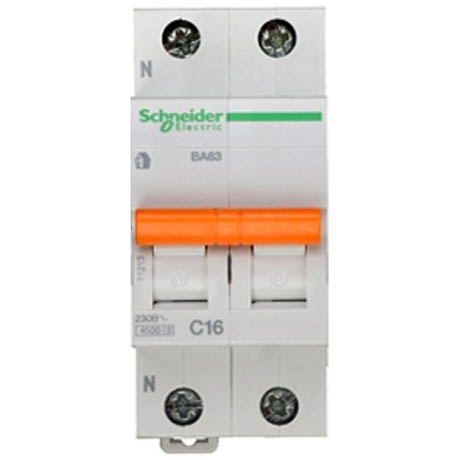 Автоматический выключатель Schneider Electric Домовой 1P+N 16А (C) 4.5кА