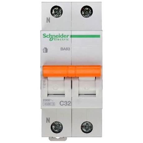 Автоматический выключатель Schneider Electric Домовой 1P+N 32А (C) 4.5кА