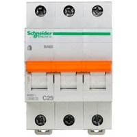 Автоматический выключатель Schneider Electric Домовой 3P 25А (C) 4.5кА