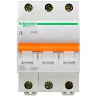 Автоматический выключатель Schneider Electric Домовой 3P 20А (C) 4.5кА