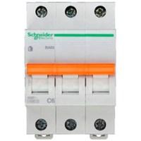Автоматический выключатель Schneider Electric Домовой 3P 6А (C) 4.5кА