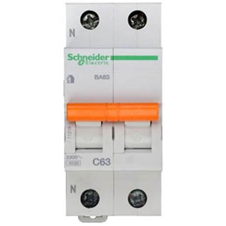 Автоматичний вимикач Schneider Electric Домовий 1P + N 63А (C) 4.5кА