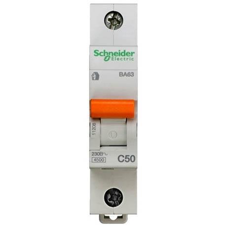 Автоматический выключатель Schneider Electric Домовой 1P 50А (C) 4.5кА
