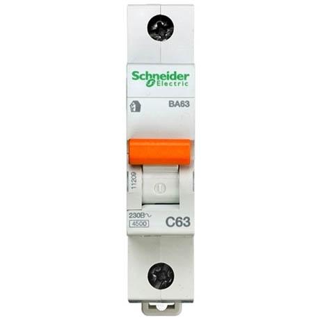 Автоматический выключатель Schneider Electric Домовой 1P 63А (C) 4.5кА